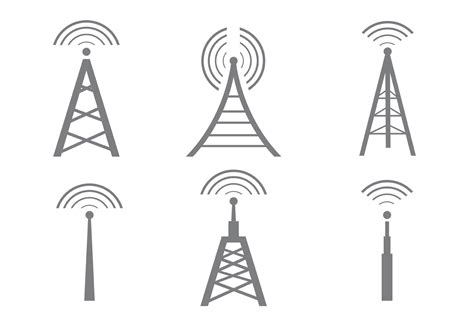 vector cell tower icons   vectors clipart