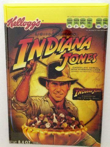 kelloggs indiana jones cereal refrigerator fridge magnet