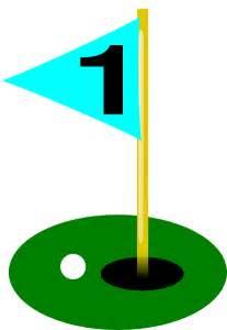 Golf Hole and Flag Clip Art