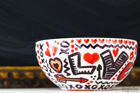 love doodle bowls sharpie art