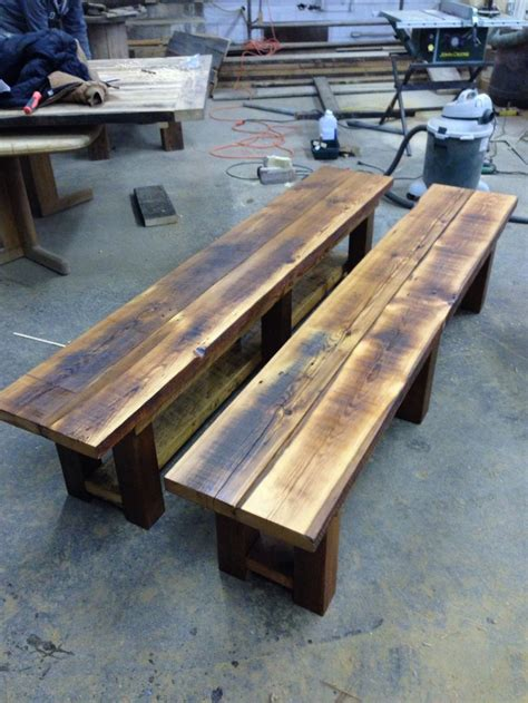reclaimed wood benches images  pinterest