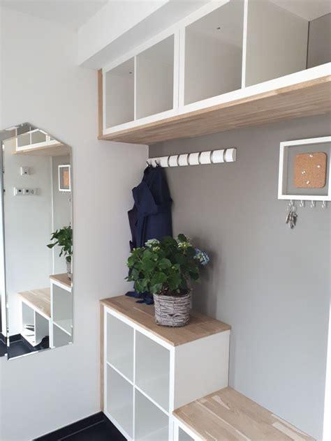 Flur Gestalten Mit Kallax by Garderobe Aus Kallax Regalen M 246 Bel Haus In 2019
