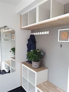 Zimmer Trennen Ikea : garderobe aus kallax regalen m bel haus in 2019 ~ A.2002-acura-tl-radio.info Haus und Dekorationen