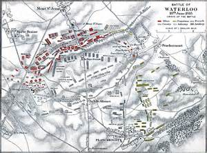 Battle of Waterloo Battlefield Map