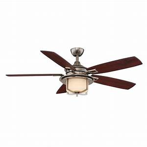 Hampton bay devereaux ii ceiling fan gunmetal frosted