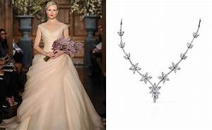 best necklace for v neck wedding dress summer collection With wedding dress necklace