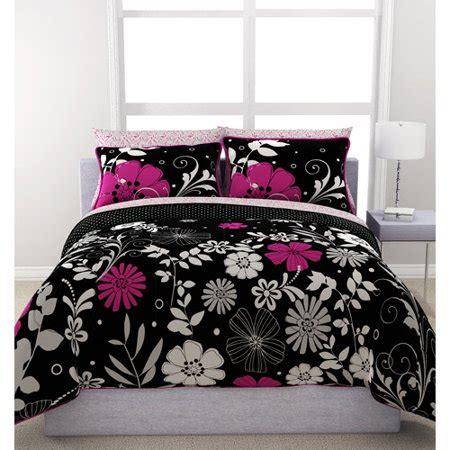 Comforters Bedding Walmart by Formula Twilight Garden Reversible Bed In A Bag Walmart