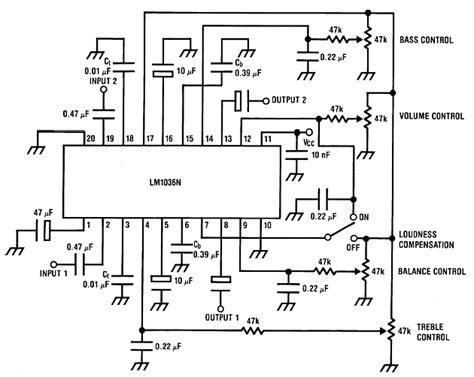 Bass Treble Tone Control Circuit Electronic