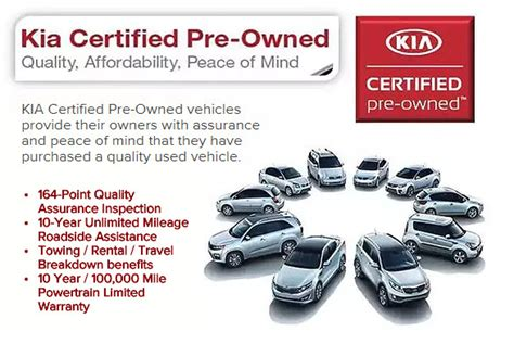 benefits  kia certified pre owned  rockford
