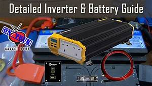 Detailed 12v Inverter  U0026 Battery Wiring Guide