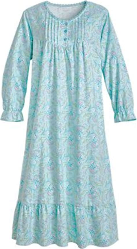 Floral Flannel Gown   Cotton Nightgown with Pockets