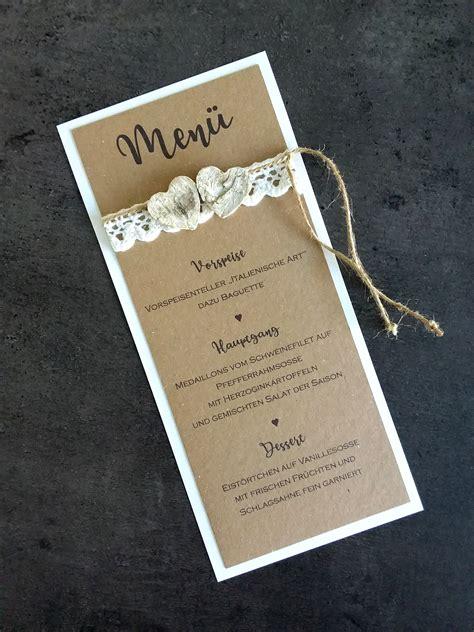 menukarte hochzeit spitze