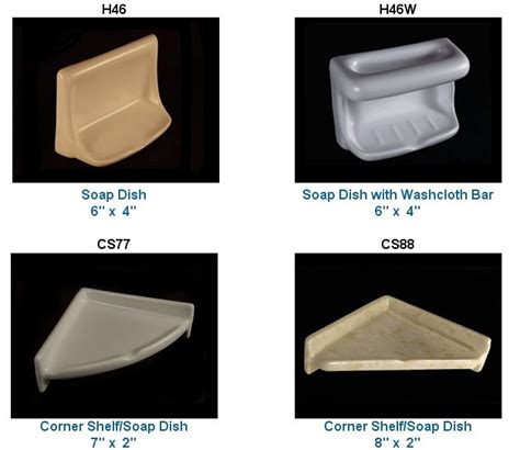 Bathtub Shower Tile by Recessed Ceramic Soap Dishes Amp More In 33 Colors From Hcp
