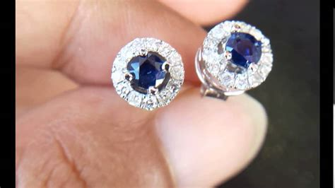 599 anting giwang safir berlian eropa emas putih youtube
