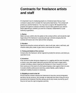 freelance contract templates 7 free word pdf format With freelance employment contract template