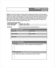 Project Reports Templates by 6 Project Status Templates Free Word Pdf Documents