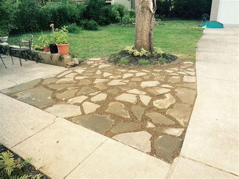 flagstone joints flagstone patio project cle landscaping co llc