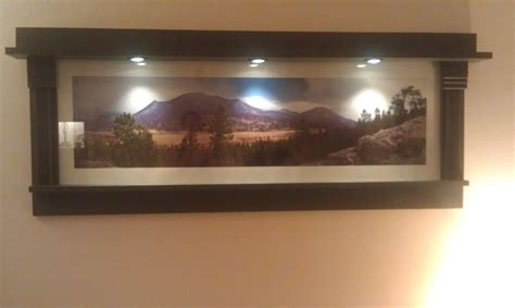 ana white lighted panoramic craftsman frame diy projects