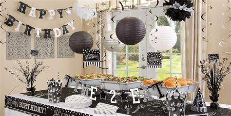 black white birthday party supplies party city