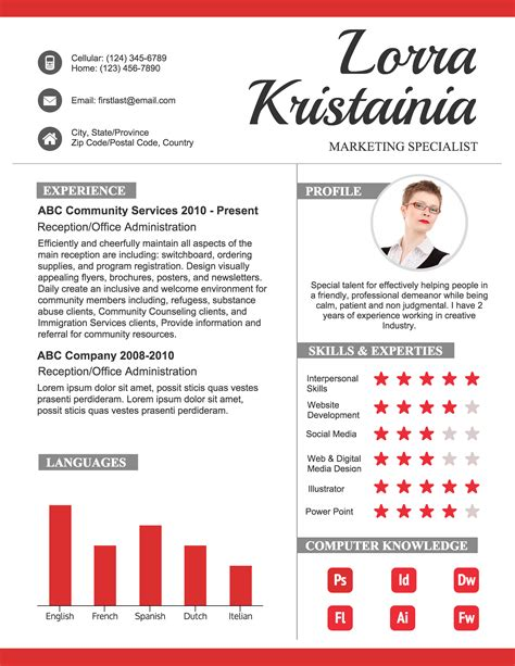 how to create a polished infographic resume infographic