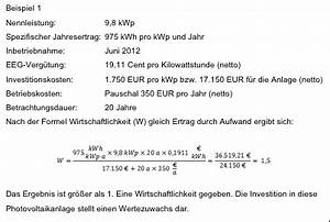 Zins Berechnen Formel : lohnt sich das denn wie wirtschaftlich sind photovoltaikanlagen noch photovoltaik ~ Themetempest.com Abrechnung