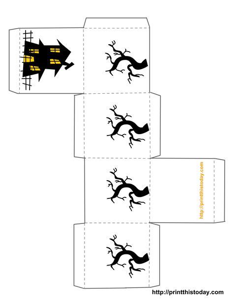 treat favor box template free printable halloween treat boxes templates