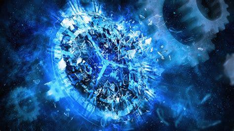 clocks digital gears time shattered broken glass