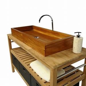 Waschbecken Aus Holz : teakholz waschbecken doppelwaschbecken aus edelstem teak rechteckig 90x40x12 cm bei ~ Sanjose-hotels-ca.com Haus und Dekorationen