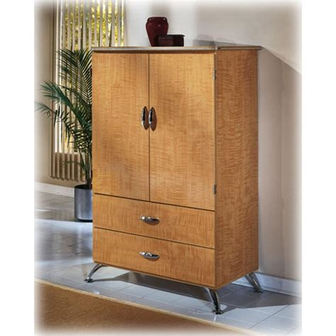 Shop ashley furniture homestore online for great prices, stylish furnishings and home decor. B250-49 Ashley Furniture Spectra Armoire Replicated Maple ...
