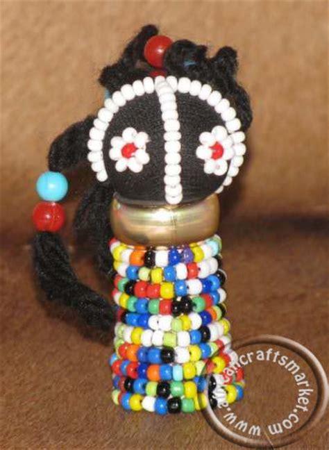 african ndebele rasta doll beaded fridge magnet