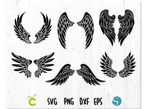 This free cut file can be foun. Layered Angel Wings Svg Printable - Free Layered SVG Files