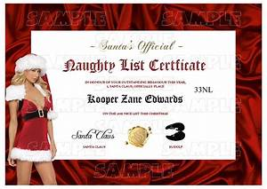 Personalised santa letter good nice list certificate for Naughty letter from santa for adults