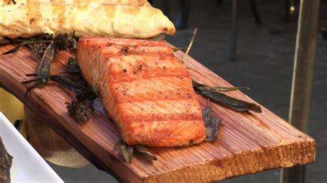 grill fish filets  cedar planks  chef romy