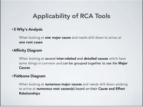 root  analysis rca tools