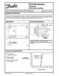 Danfoss Ke04104 Valve Drive Amplifier Installation Guide