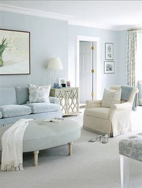 trendy paint colors  minimalist houses monochromatic room light blue walls living