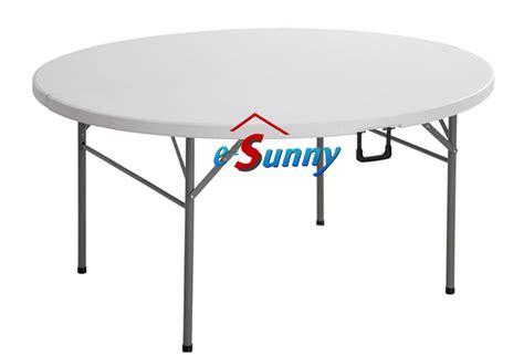 table pliante valise buffet 154cm ronde table pliante pvc plastique ebay