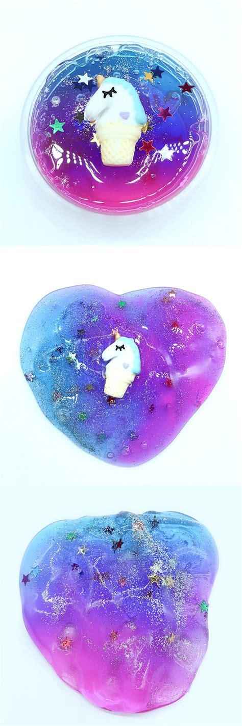 colorful unicorn stars slime apollobox