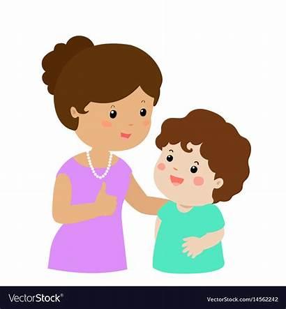 Son Cartoon Mother Character Vector Admire Xa
