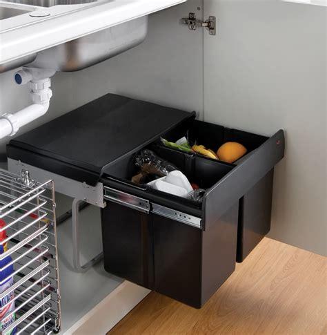 under sink kitchen cabinet the wesco shorty internal waste bin with two bin