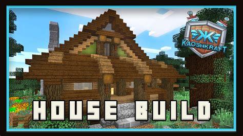 minecraft     starter house  survival kaoshkraft smp ep youtube