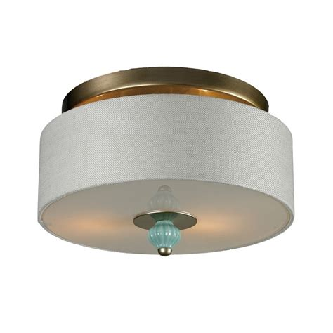 drum shade ceiling light semi flushmount drum ceiling light with white shade