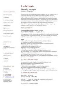 Quantity Surveyor Resume by Construction Cv Template Description Cv Writing Building Curriculum Vitae Exles