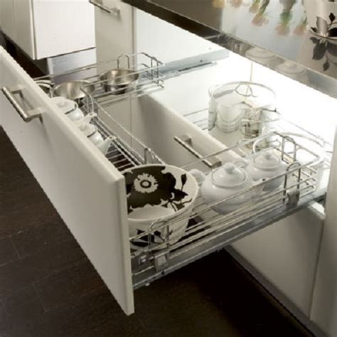 Undersink Pull Out Wire Basket Set, for 800 1000 mm