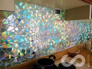 How to use old cds for mosaic craft projects diy for Kitchen cabinets lowes with decorative metal disc wall art