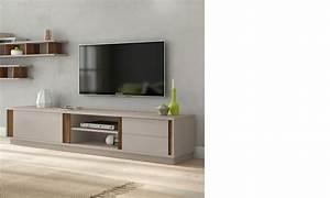 Meuble Tv Bois Foncé : h comme home produits meuble tele ~ Teatrodelosmanantiales.com Idées de Décoration