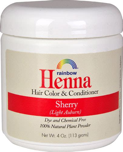 rainbow research henna hair color  conditioner sherry