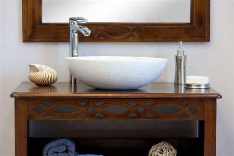 salle de bain teck java 85 pour simple vasque meubles en teck