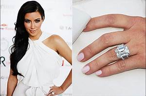 kim kardashian39s engagement ring from kris humphries sells With kim kardashian wedding ring worth