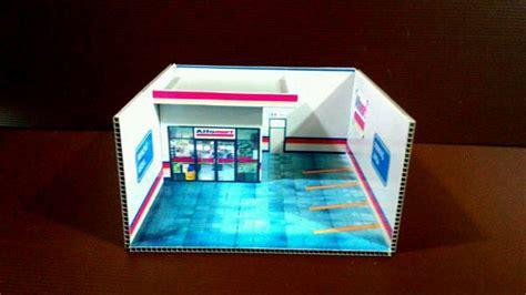 jual diorama papercraft mini market alfamart kotak